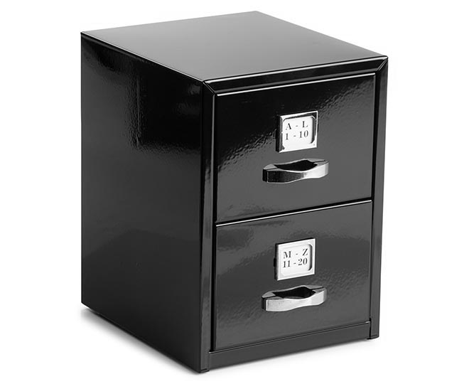 mini file cabinet mini business card 15cm filing cabinet black catch au 23343