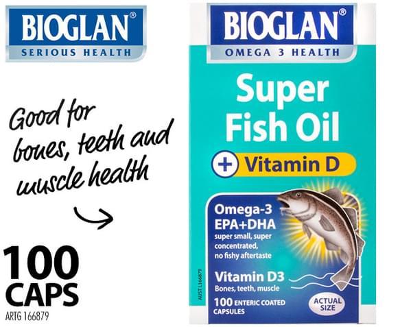 Bioglan super fish oil vitamin d for Fish oil vitamin d