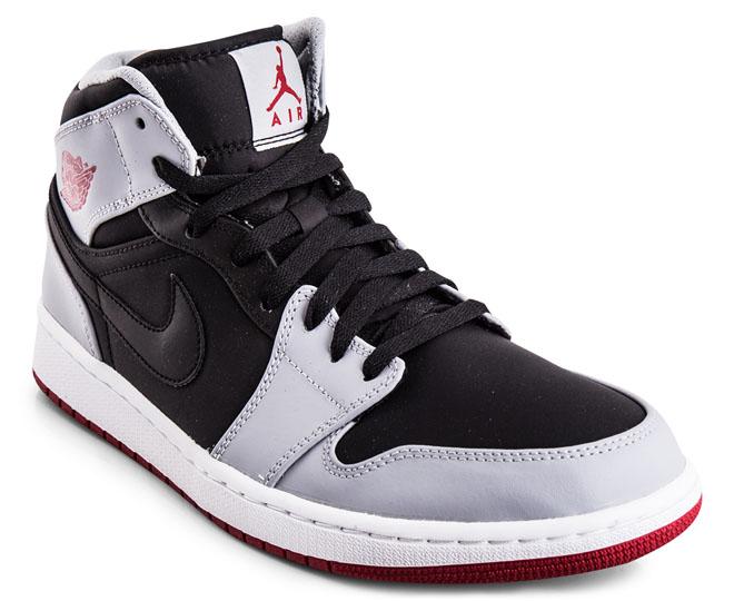 ff0dd17f4e Nike Men's Air Jordan 1 MID - Black/Gym Red/Wolf Grey | Catch.com.au