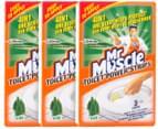3 x Mr Muscle Toilet Power Strips Pine 3pk 2