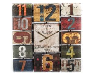Dupont Paris Square 60cm Wall Clock - Multi