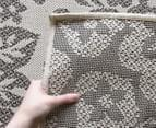 Laguna Collection 220 x 150cm Floral Rug - Beige/Taupe 3