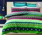Belmondo Andorra Single Quilt Cover Set - Lime 1
