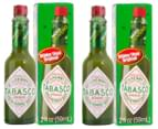 2 x Tabasco Green Pepper Sauce 59mL 4