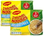 2 x Maggi 2 Minute Noodles 99% Fat Free Chicken 5pk 2