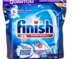 4 x 40pk Finish Quantum Powerball with Baking Soda Dishwashing Tabs 2