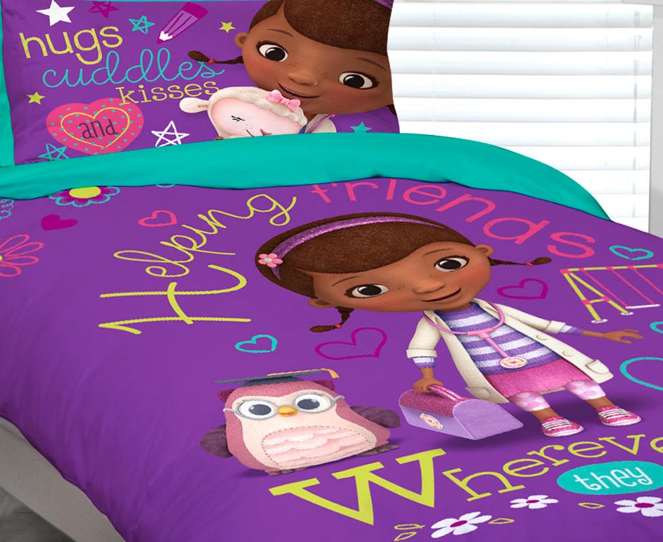 Doc McStuffins Single Quilt Cover Set