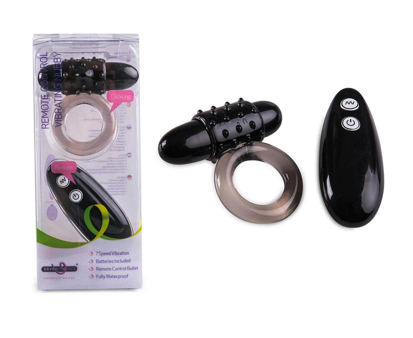 Remote Control Vibrating Nubby Cockring - Black | Catch.com.au