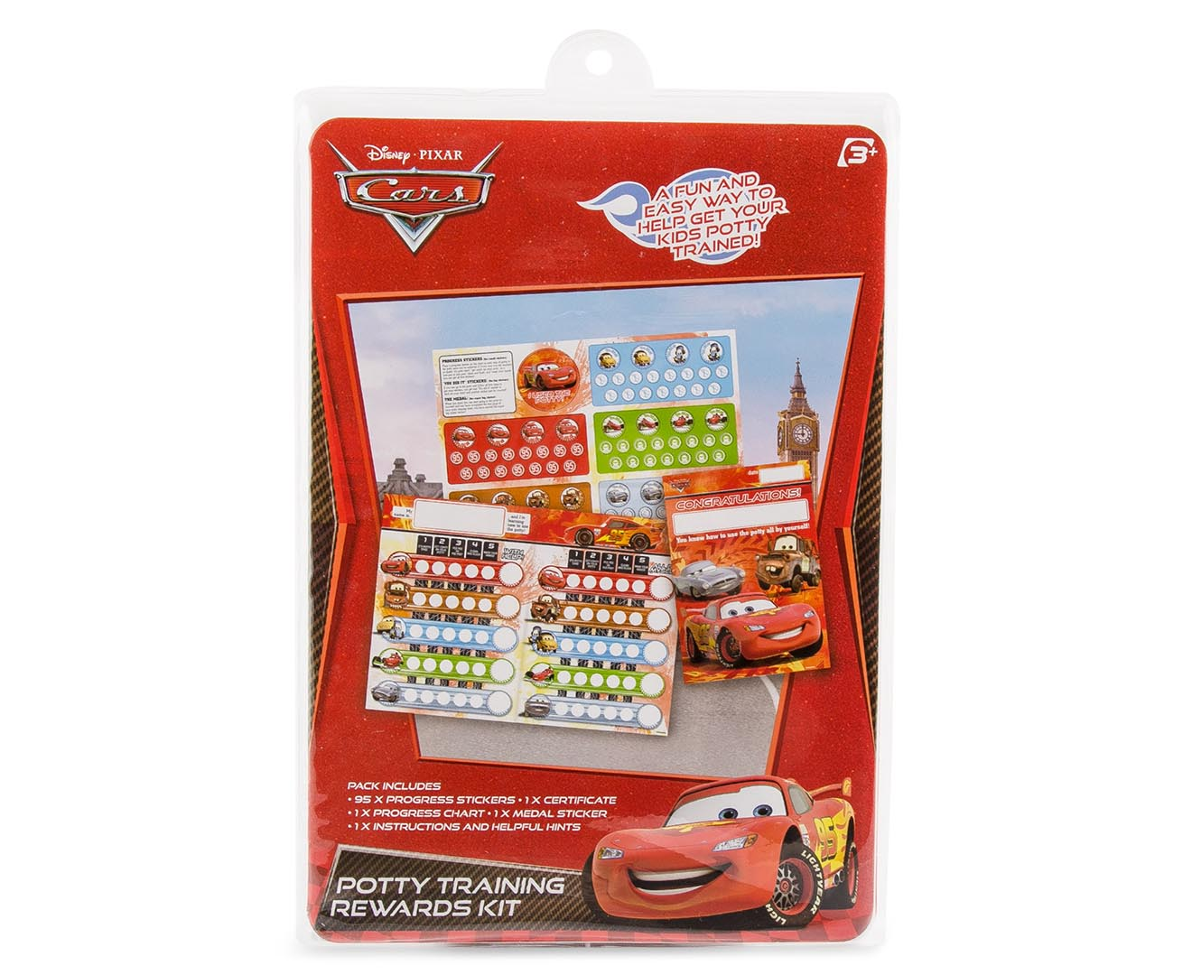 disney cars potty training rewards kit