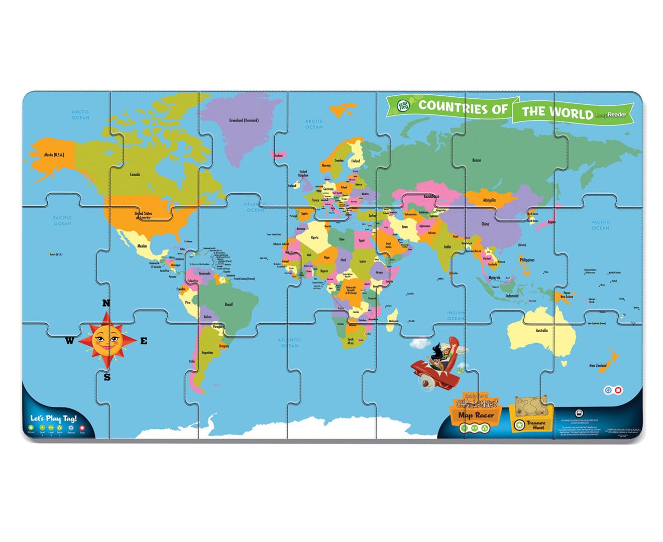 Leapfrog tag world map jumbo puzzle great daily deals at leapfrog tag world map jumbo puzzle great daily deals at australias favourite superstore catch gumiabroncs Gallery