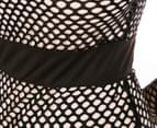 Kardashian Kollection Women's Mesh Dress - Black/Nude 5