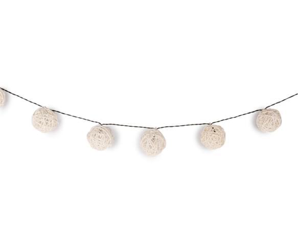 CatchOfTheDay.com.au Rattan Solar String 20-Piece LED Lights - Cream