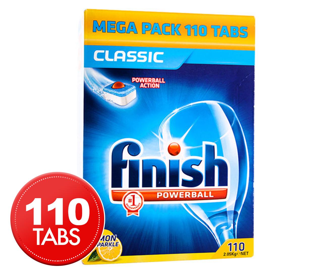 Finish Powerball Dishwashing Tabs Classic Lemon Sparkle 110pk Great Daily Deals At Australia S