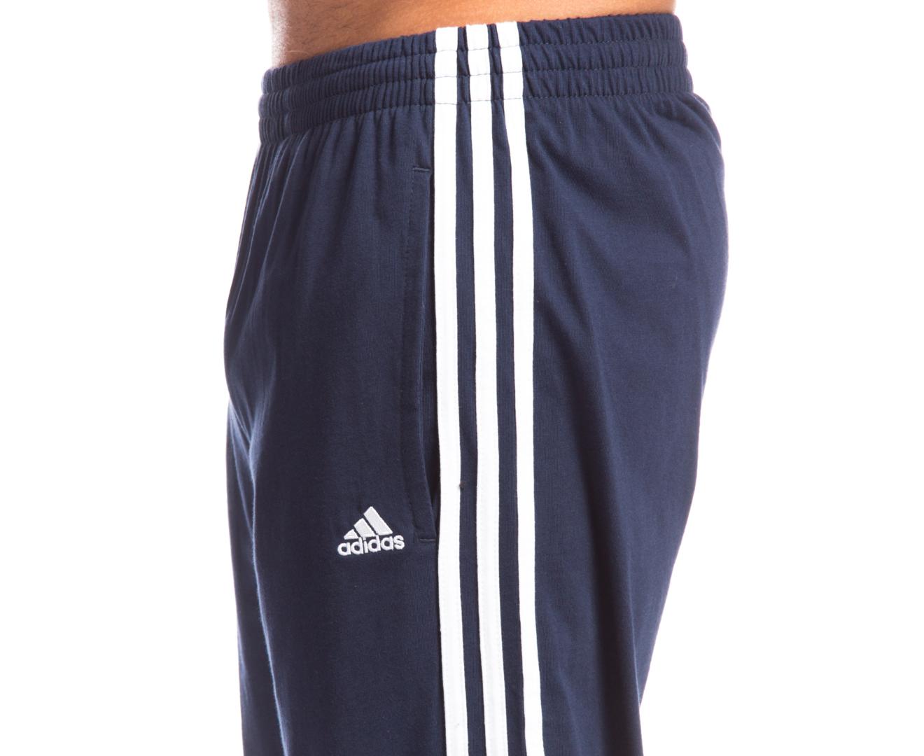 Ugg Bedroom Slippers Adidas Men S 3 Stripe Jersey Pants Navy White Great
