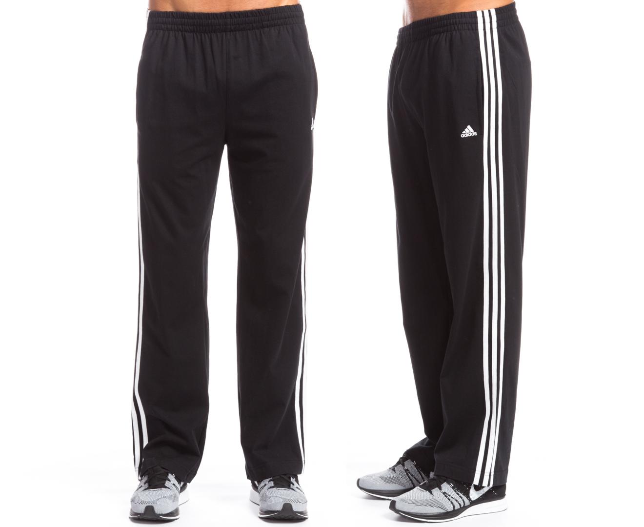 promo code 6b1fc 658b3 Adidas Mens 3 Stripe Jersey Pants - BlackWhite  Mumgo.com.au