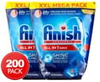2 x Finish Powerball All-In-One Tablets Megapack 100 Tabs 1