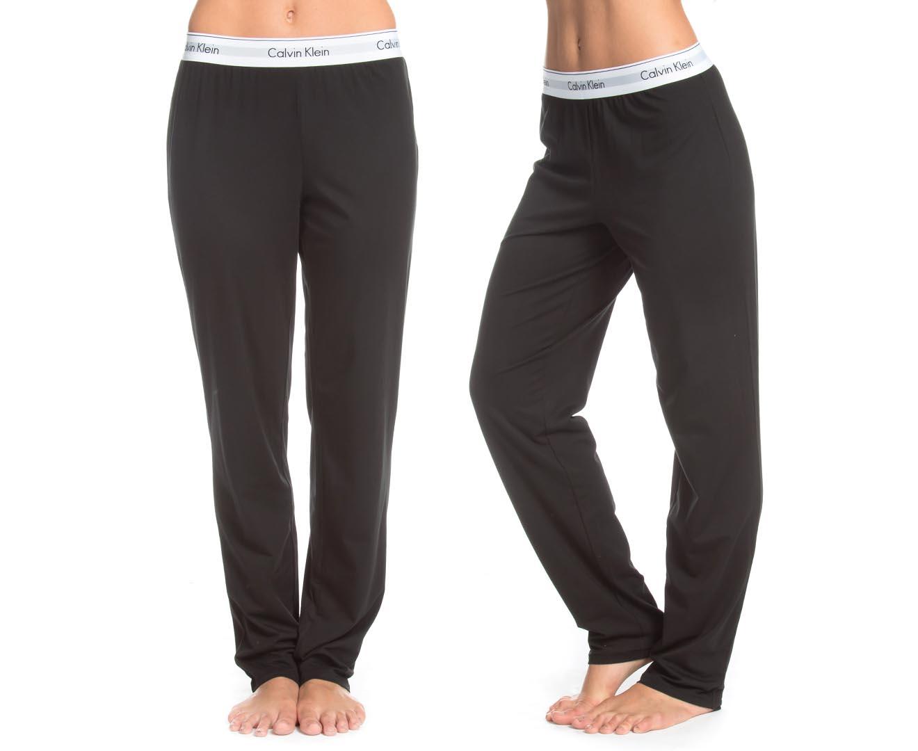 Calvin Klein Women s Leg Pants - Black  d15cb12ba
