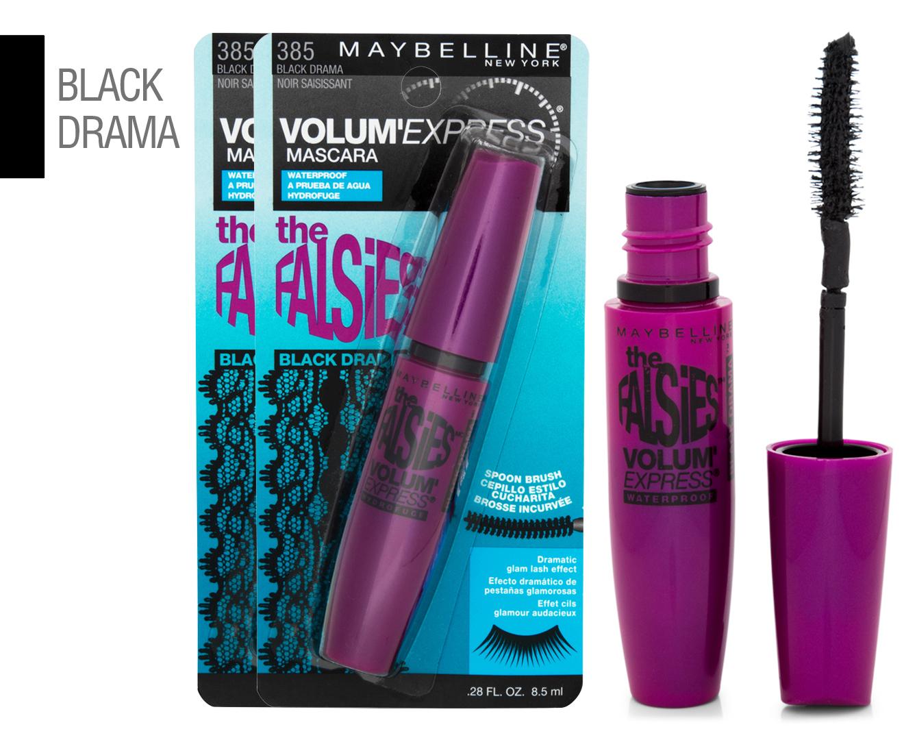 a63af80a83d 2 x Maybelline Volum' Express Falsies Mascara 8.5mL - #385 Black Drama |  Catch.com.au