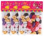 3 x Indulge Kids Coloured Hair Bands 80-Pack 3