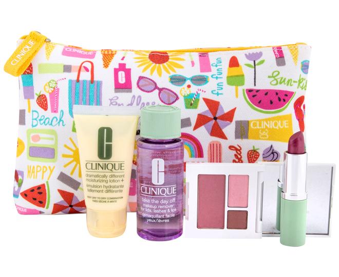 Piece Clinique Travel Set With Make Up Bag