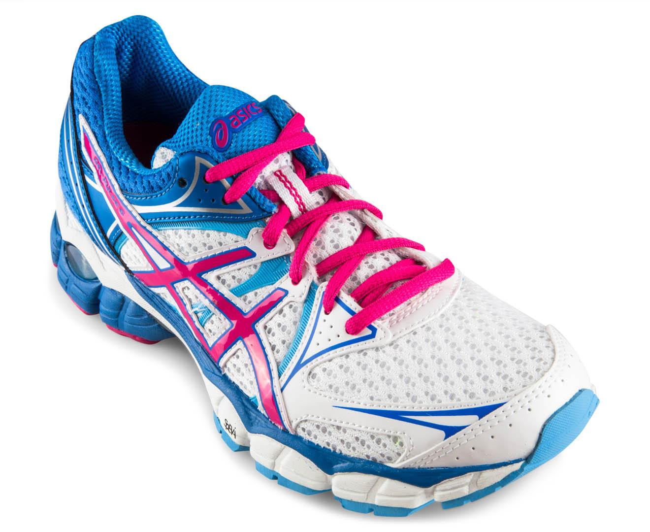 ASICS Women s GEL-Pulse 6 - White Pink Blue  a9275e417a22d
