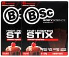 2 x BSc High Protein Stix Cherry Bite 120g 6pk 4