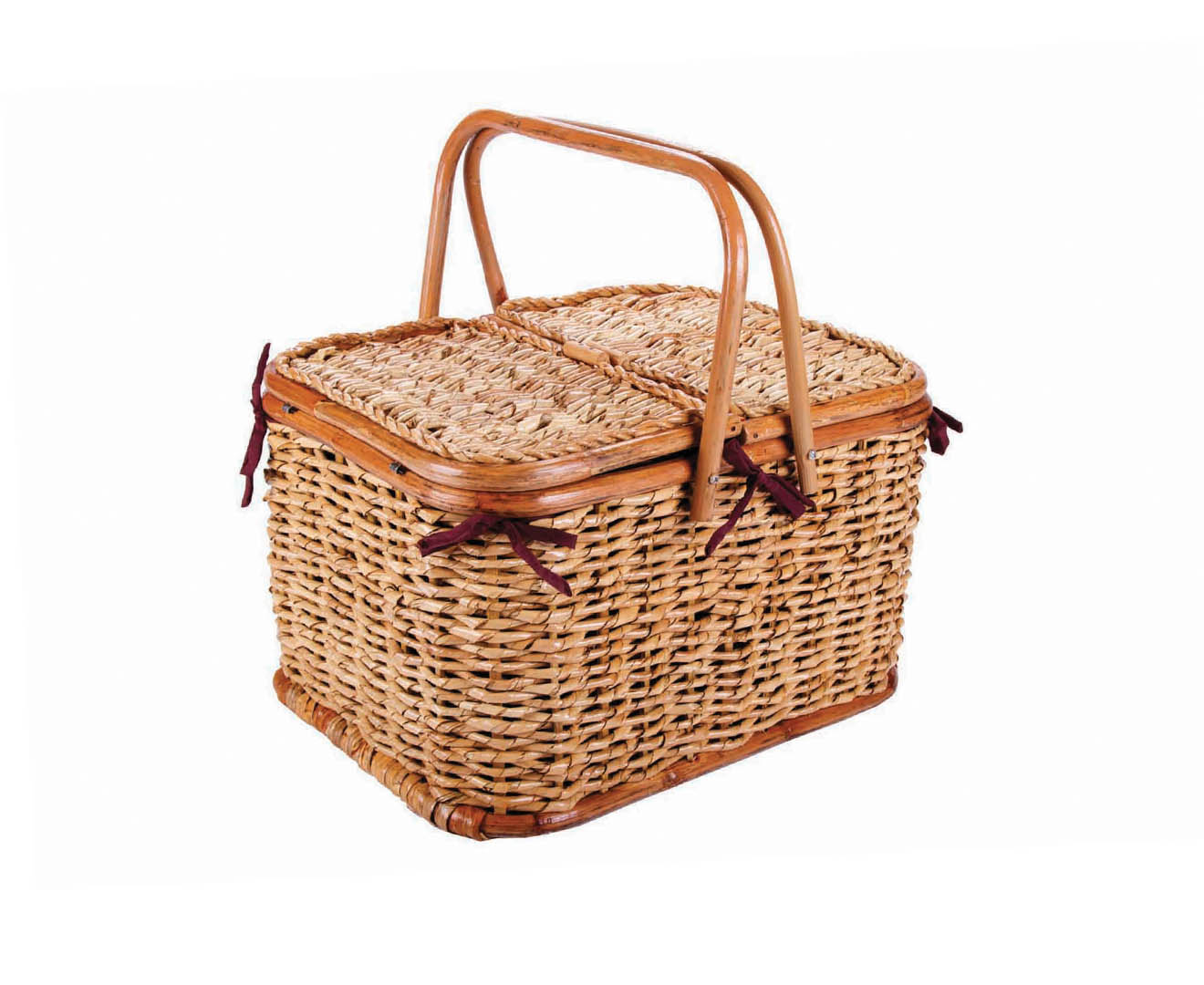 Aldi Picnic Basket Australia : Bamboo cane person picnic basket natural great daily