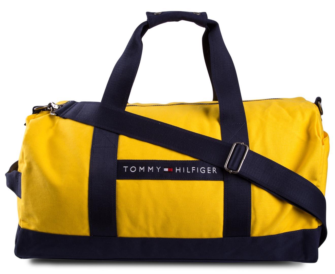 Tommy Hilfiger Sport Duffle Bag Yellow Navy Catch Com Au