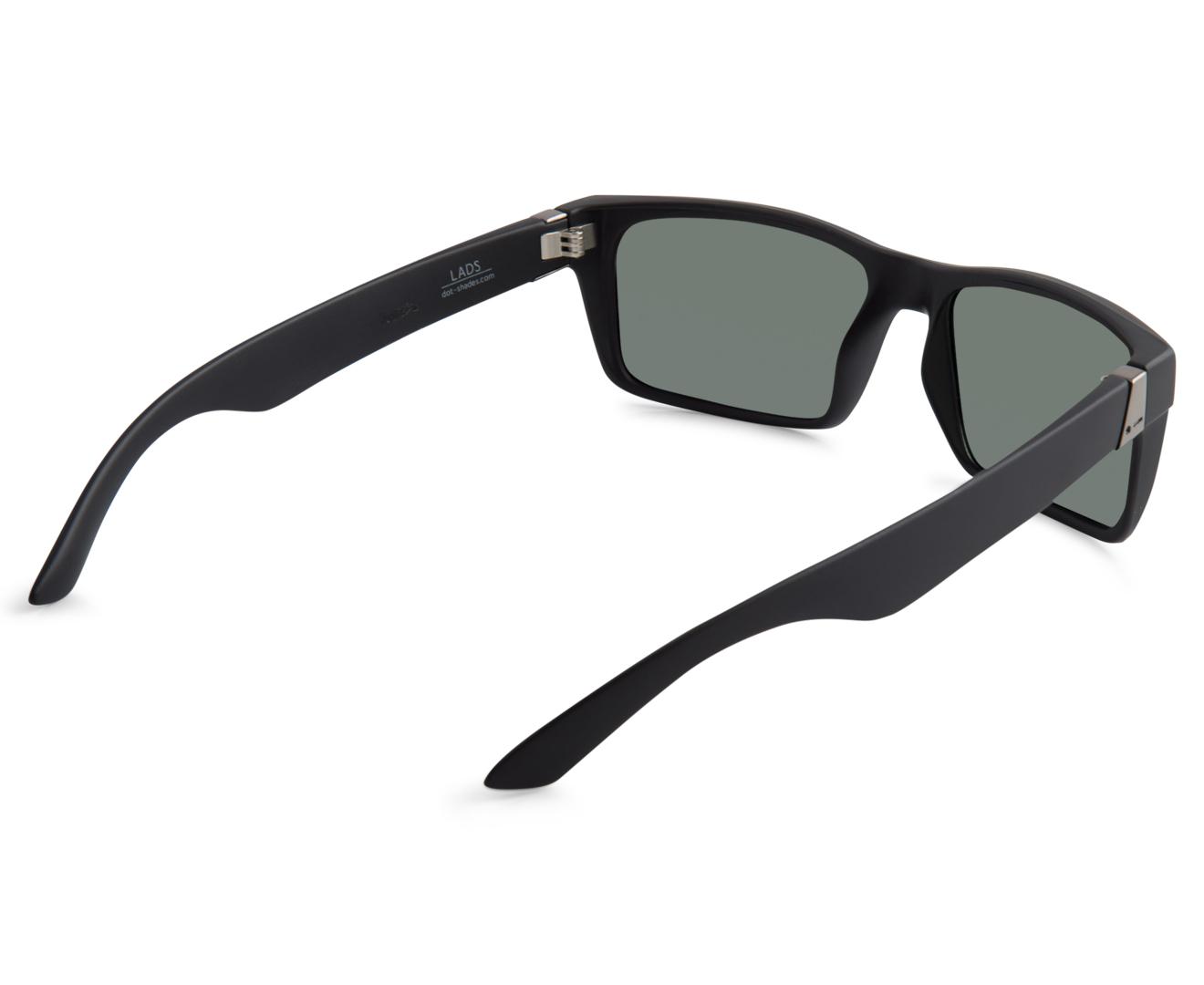 e870f9a7e33 Dot Dash Lads Sunglasses - Black Satin Grey
