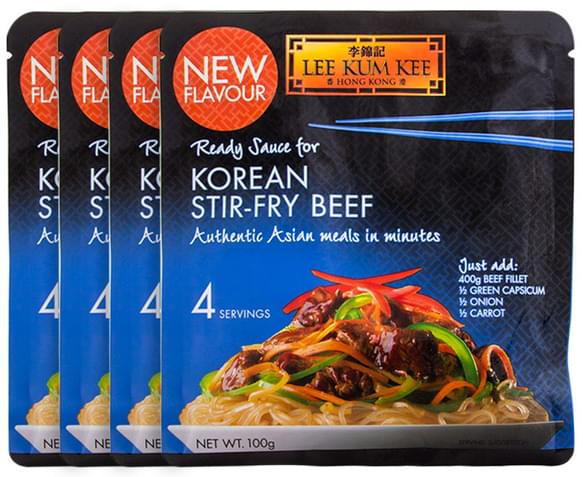 ... .com.au | 4 x Lee Kum Kee Ready Sauce Korean Stir-Fry Beef 100g