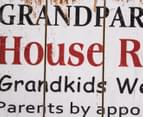 Wooden 60x40cm Wall Plaque - Grandparents' Rules - White 4