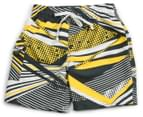 Waverat Boys' All Over Print Boardie - Charcoal/Yellow 1