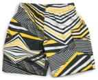 Waverat Boys' All Over Print Boardie - Charcoal/Yellow 2