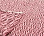 Diamond 225 x 155cm Rug - Red 3