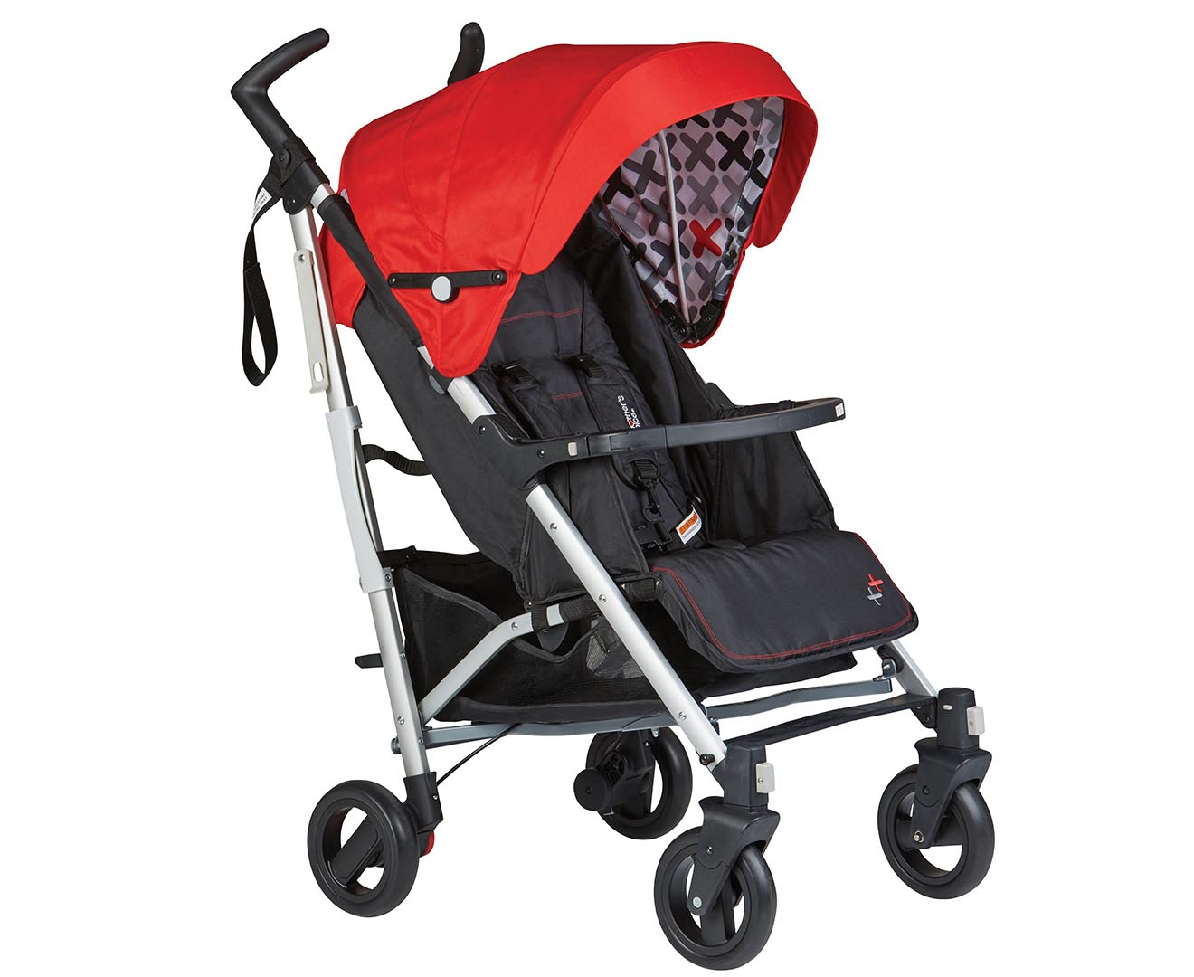 Mother's Choice 40th Anniversary Compact Stroller - Black/Re