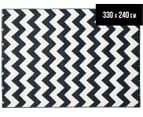 Eco Chevron 330x240cm Indoor/Outdoor Rug - Navy 1