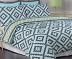 Apartmento Cisco Single Quilt Cover Set - Blue/Grey 3