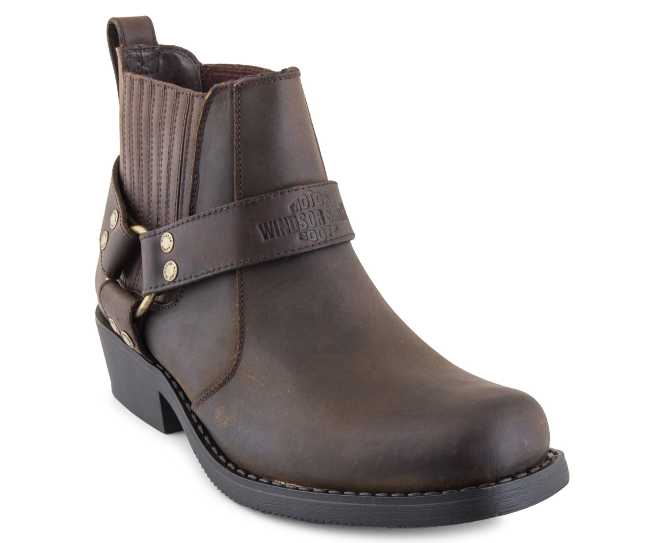 9961dddebe5 Windsor Smith Men's Low Biker Boots - Brown Leather | Catch.com.au