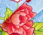 Bambury Torquay Queen Quilt Cover Set - Blue/Red 3