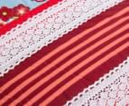 Bambury Torquay Single Quilt Cover Set - Blue/Red 6