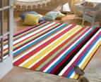 Joyful Kids' Multi Stripe 165x115cm Rug 2