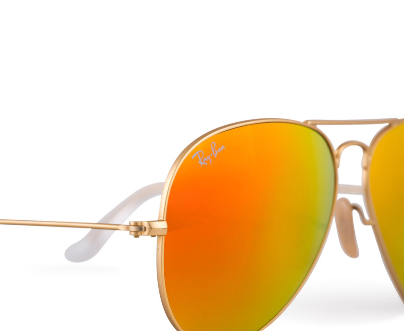 Ray-Ban Aviator RB3025-112 /69-58 Sunglasses - Starburst Gold