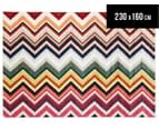 Coloured Zig Zag 230x160cm Rug - Multicoloured 1