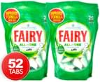 2 x Fairy Dishwasher Tablets All In One Original 26pk 1