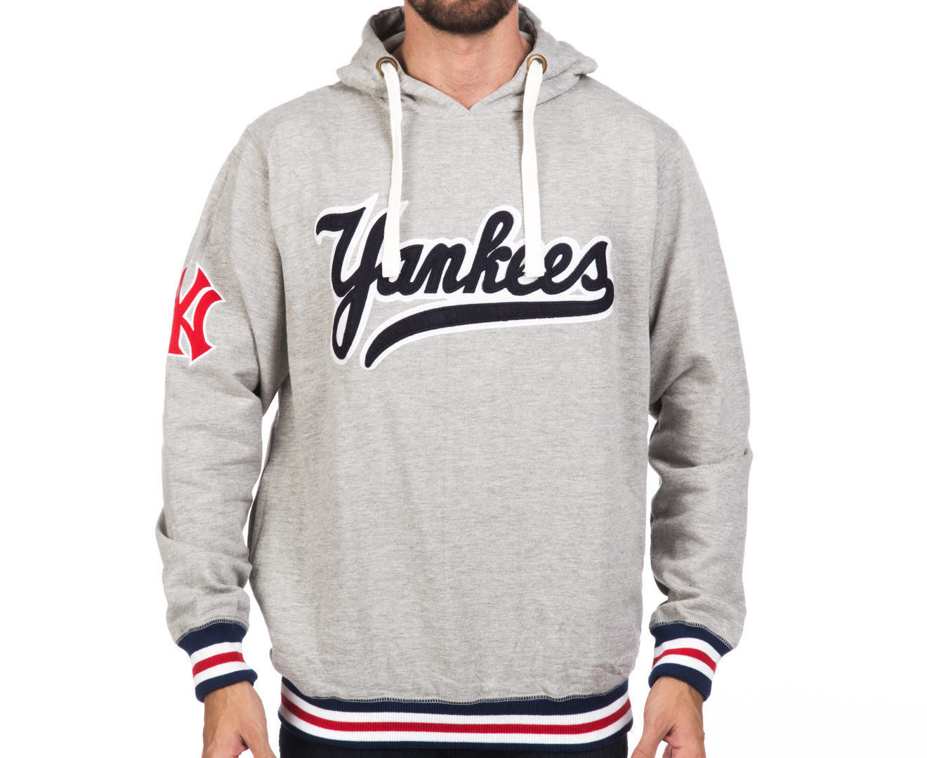 new style 7986d 85c9b Majestic Men's New York Yankees Hoodie - Grey