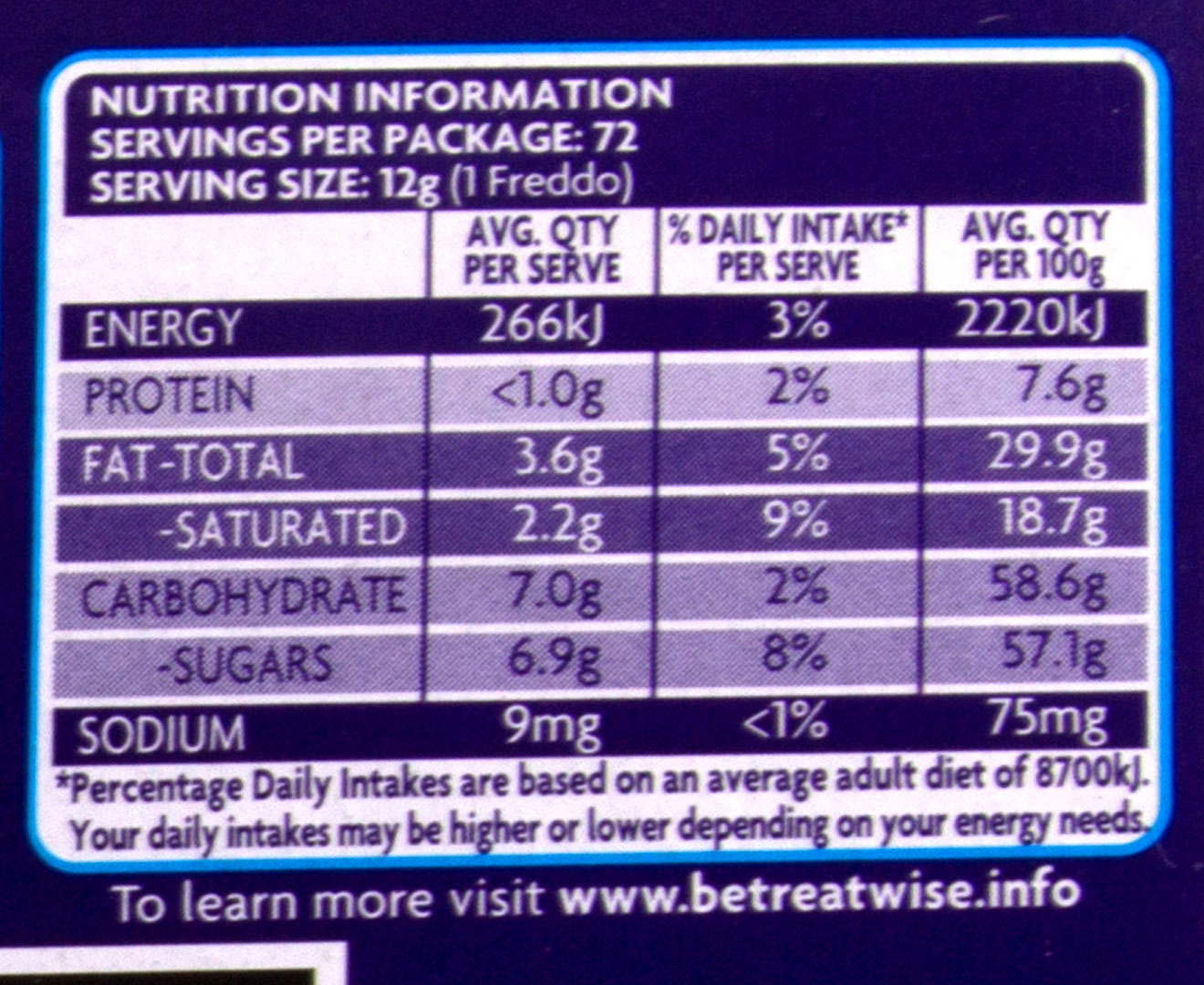 72 X Cadbury Dairy Milk Freddo 12g Catch Com Au