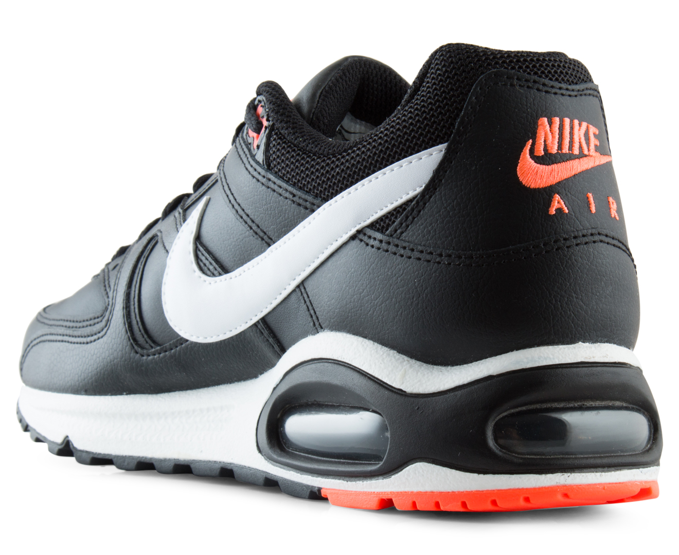b4888d2914 Nike Men's Air Max Command Leather Shoe - Black/White/Bright Mango |  Catch.com.au