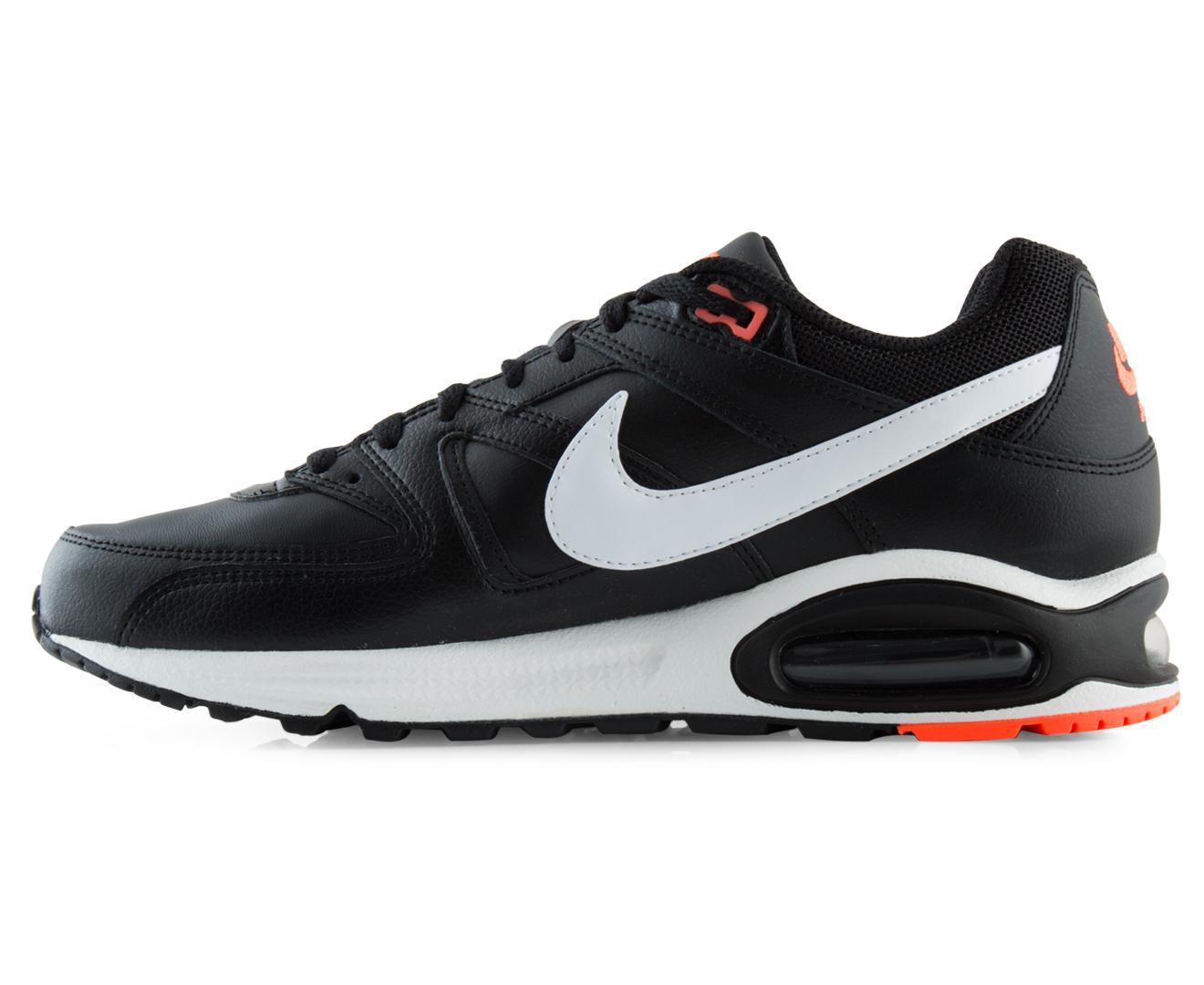 official photos 09058 878de Nike Men s Air Max Command Leather Shoe - Black White Bright Mango    Catch.com.au