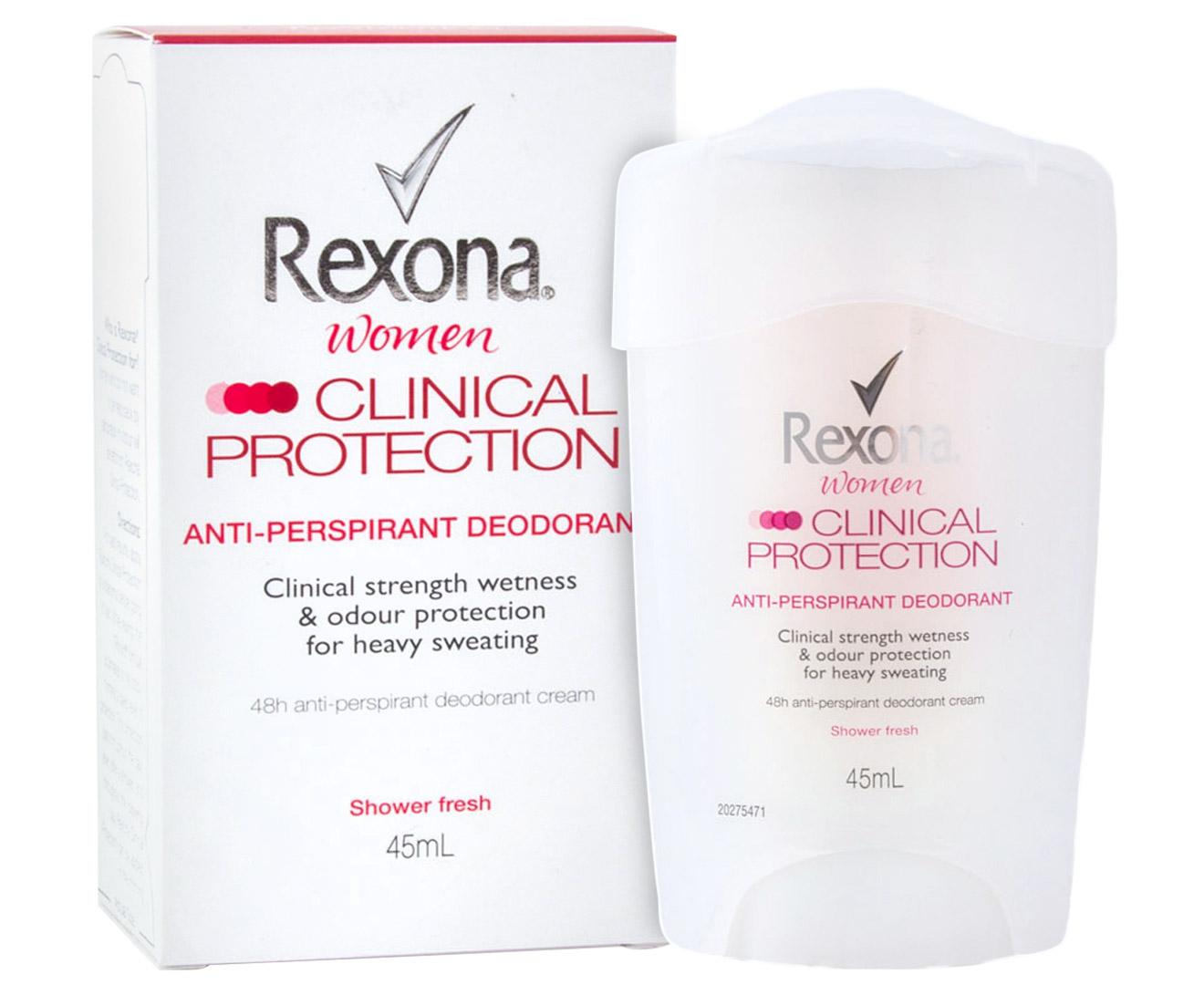 Rexona Women Clinical Protection Roll On Deodorant Shower Fresh 45ml Natural 50ml