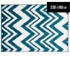 Rug Connection Aztec Chevron 230 x 160cm Rug - White 1
